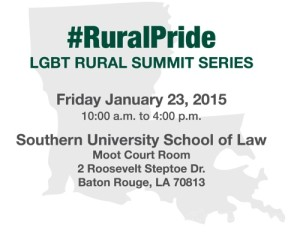 USDA LGBT Rural Summit Series @ Southern University School of Law Moot Court Room | Baton Rouge | Louisiana | United States
